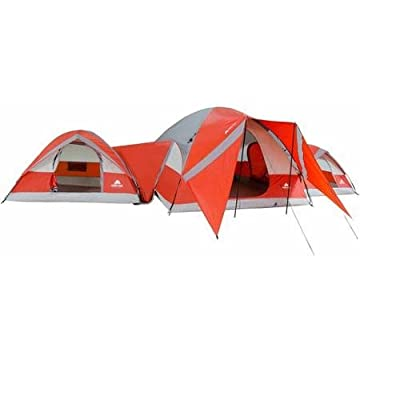 Ozark Trail ConnecTENT 10-person 3-Dome Tent Camping Outdoors Red