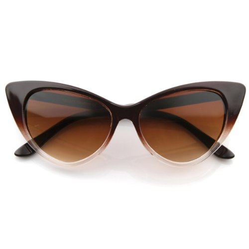 zeroUV - Super Cateyes Translucent Gradient Fade Mod Chic High Pointed Cat-Eye Sunglasses - Mikita Glasses
