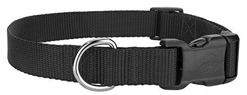 Country Brook Design Deluxe Nylon Dog Collars - Black - Extra Small