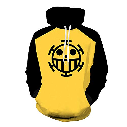 LoveCos Unisex Trafalgar Law Cosplay Costume Zip up Hoodies Casual Heart Pirates Pullover Sweatshirt]()