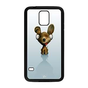 [Illustrations] Cute Dog Case for Samsung Galaxy S5 {Black}