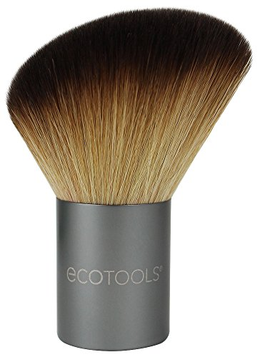 EcoTools-Cruelty Free Angled Kabuki Face Brush-Recycled Aluminum Ferrules, Cruelty Free Synthetic Taklon Bristles, Recycled Packaging