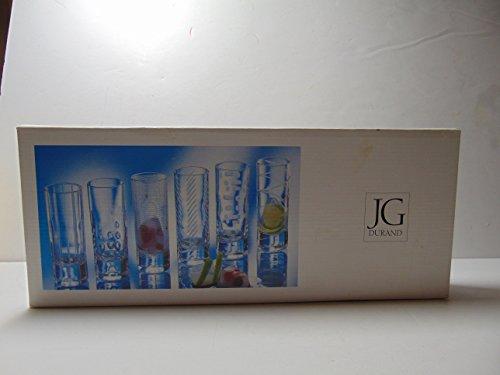J.G. Durand 6 Assorted Cut Crystal Shot Glasses