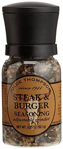 Olde Thompson 1040-10 Disposable Spice Grinder, 3.25 Ounce Steak and Burger Seasoning
