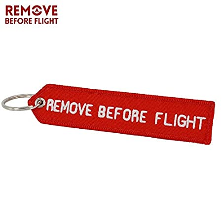 Amazon.com: Key Rings Remove Before Flight 5 PCS Keychain ...