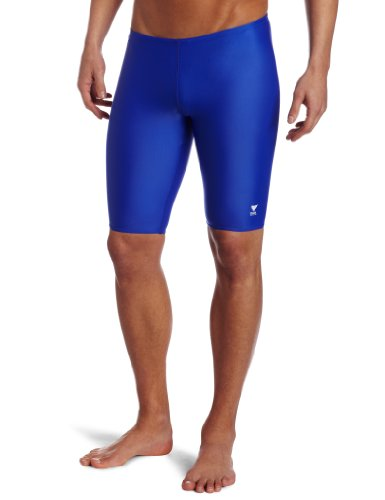 TYR Sport Men's Solid Jammer Swim - Jammers Royal Blue