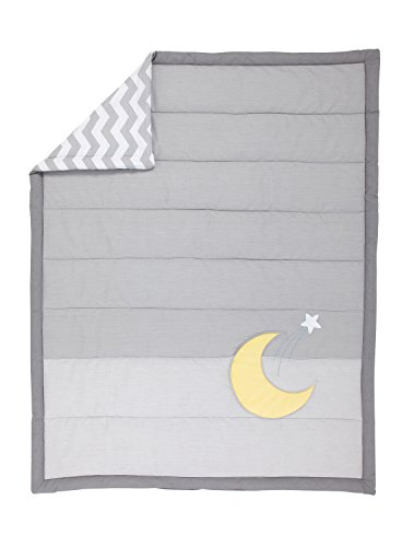 Little Love by NoJo Separates Collection Star and Moon Applique Comforter, 42
