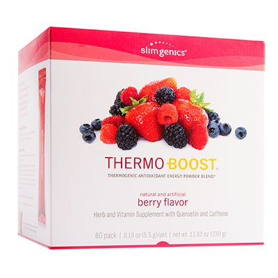SlimGenics Thermo-Boost ® | Thermogenic Thermo Burn Powder Energy Drink Mix - Antioxidant, Anti-Aging Properties - Metabolism Booster for Weight Loss - (Berry Flavor) 60 ct