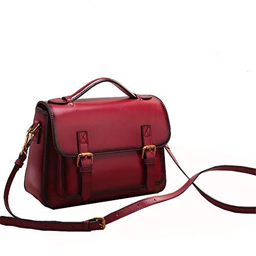 donna da a Colore Red Memoria wine in Borsa in delle Wine diagonale pelle borsa di Red portatile Pacchetto Xuanbao pelle tracolla donne a vacchetta femminile tracolla tracolla Totes Borse ZS4wxxqUa