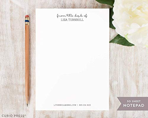 (FANCY NOTES NOTEPAD - Personalized Stationery 5x7 or 8x10 Note Pad - Professional Custom Stationary Gift)