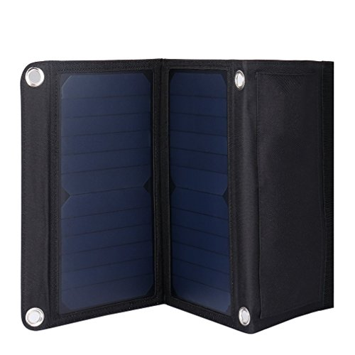 OUTAD 15W Portable USB Port Solar Panel Charger Ultra Thin Universal Light Weight for Cell Phone, PDA, MP3, MP4, Mini Fan/Digital Camera/Power Bank(15W)