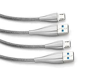 MyGadget 2X Cable Cargador Micro USB en Metal (1 m)- Sincro ...