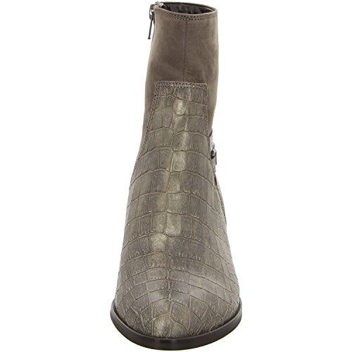 Gabor 32-962-85 - Botas de cuero repujado para mujer Marrón - Fango