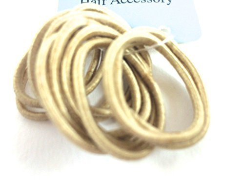 12 Small Thin Blonde Hair Elastics Bobbles Ponytail No Metal Snag FREE Children