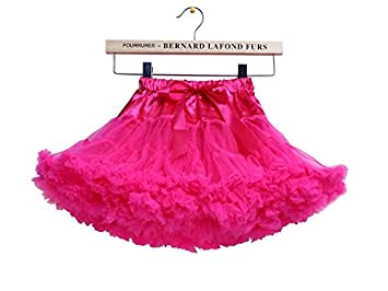 bae844d733 Girls Fluffy RARA Skirts Pettiskirts Tutu Princess Party Skirts Ballet  Dance Wear 12M-8 Years AbbeyRabbit Exclusive Copyright (M, Hot Pink): Amazon .co.uk: ...
