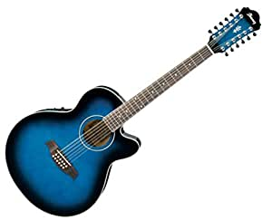 ibanez ael1512e 12 string acoustic electric guitar blue sunburst open box musical. Black Bedroom Furniture Sets. Home Design Ideas