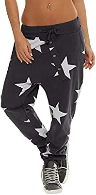 ed6adb4291016f FeiBeauty Frau Star Print Button Loose Harem Hosen Mode Hosen Hosen Sport  Guard Hosen