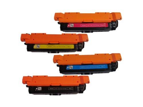 (4PK Remanufactured Toner Cartridge SET for HP CE250A CE251A CE252A CE253A CP3525 CM3530)