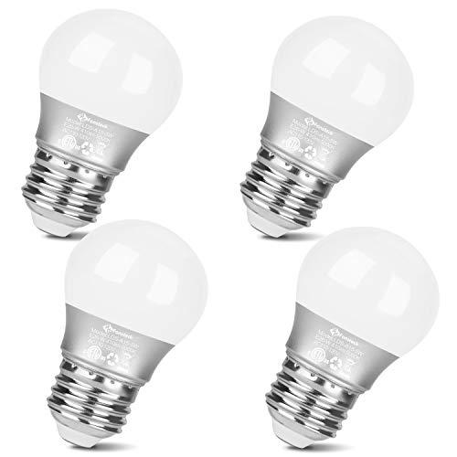 Fansteck LED Refrigerator Light Bulb 5W Equivalent 40W, E26 Base Waterproof Fridge Bulb, Daylight White 5000K, A15 LED…