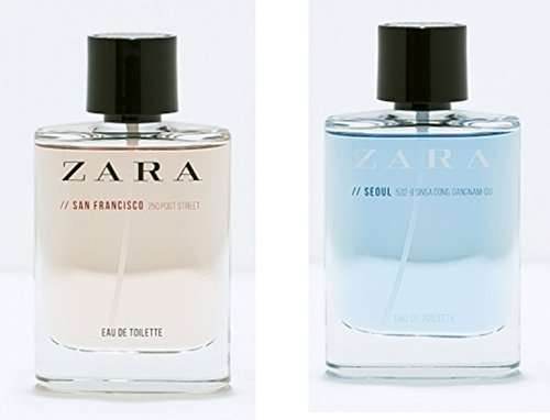 Amazon.com : ZARA for Men Duo Seoul & San Francisco (50ml/1.7 oz each) : Beauty