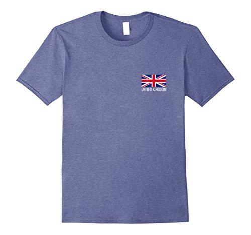 Wear Jack Union (Mens Great Britain flag Tshirt - British flag football T-Shirt Small Heather Blue)