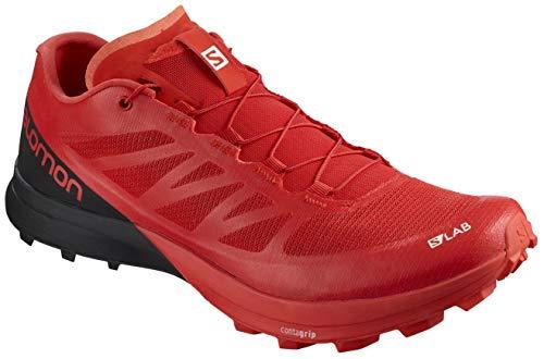 Salomon Unisex S/LAB Sense 7 SG Trail Running Shoe, Racing Red/Black/White, 7.5