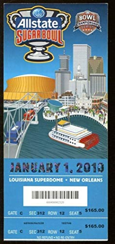 2010 Sugar Bowl Full Ticket Florida Gators v Cincinnati Bearcats Tebow 50127