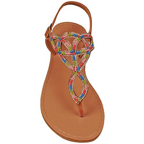 multi colored sandals - 6