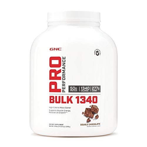 GNC Pro Performance Bulk 1340, Double Chocolate, 7 lbs, Supports Muscle Energy, Recovery and Growth