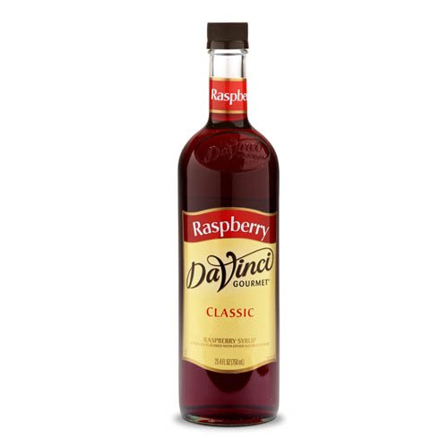 Raspberry Sweetener - DaVinci Gourmet Classic Coffee Syrup, Raspberry, 25.4 Fluid Ounce (Pack of 4), Flavored Sweetener Syrup for Espresso Drinks, Tea, and Other Beverages, Suited for Home, Café, Restaurant, Coffee Shop