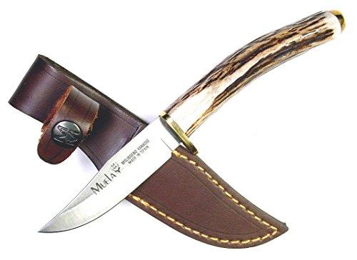 "MUELA SH 8 Field Knife with Leather Sheath, 7 1/8"""