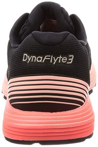 Asics de corail noir 3 Running rose Dynaflyte Femme Chaussures 6vptvr