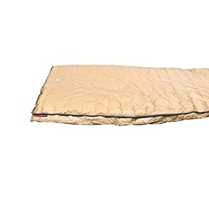 AEGISMAX UL Goose Down Sleeping Bag Tapered Rectangular Envelope Down Sleeping Bag Super Lighte Backpacking Down Bag 800 Fill Gold (Large)
