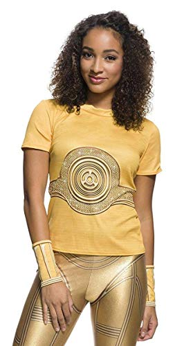(Rubie's Adult Star Wars C-3PO Rhinestone Costume T-shirt,)