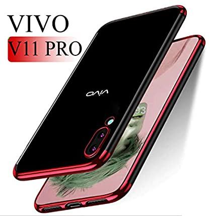 best loved c3c9b f1068 vivo 11 pro Case Cover - MOBISTYLE Luxury Electroplating Soft Silicon  Transparent TPU Back Case Cover for vivo 11 pro (Red)