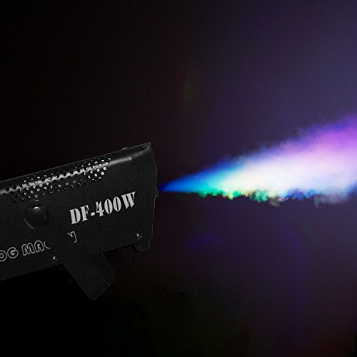 Fog Machine, Miric Smoke Machine Portable with LED Lights Equipped with Wired and Wireless Remote Control for Party, Christmas, Halloween and Weddings (400W) by Miric (Image #1)