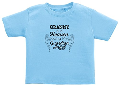 Remembrance Gifts Granny in Heaven Being My Guardian Angel Toddler T-Shirt 3T Light Blue