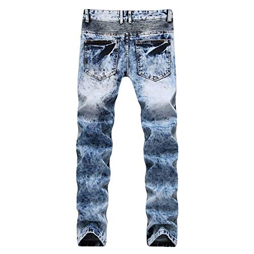 Estilo Morbidi Jeans Pantaloni Ssig Vintage Comodi Da Cotton Dritti Especial Fit Hellblau Slim Uomo Fashion UqzwRYxqPS