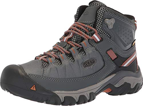 (KEEN Targhee Exp Mid Waterproof Boot - Women's Turbulence/Adobe, 8.5)