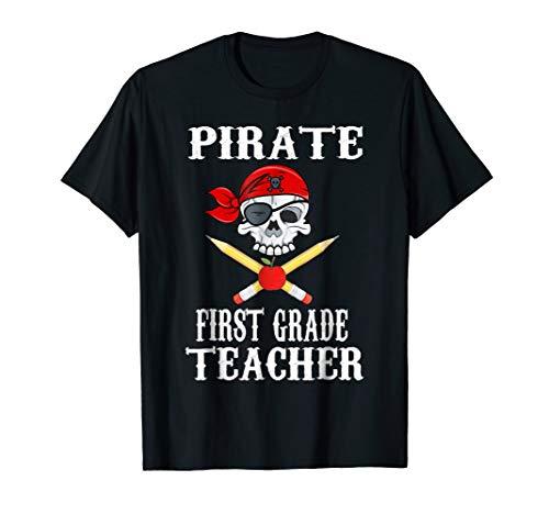 First Grade Teacher Pirate Costume Halloween Shirt]()