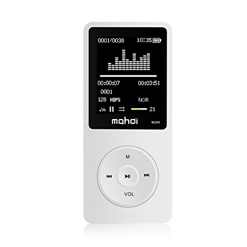 New UI MYMAHDI 8GB & 70 Hours Playback MP3 Player Lossless Sound Music Player (Supports up to 128GB) Bright-White
