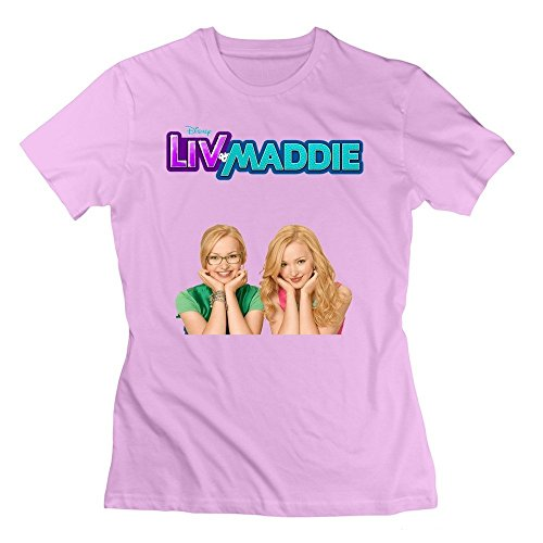 Abbas Woman's Children's Television Series Liv And Maddie Tshirt S Pink