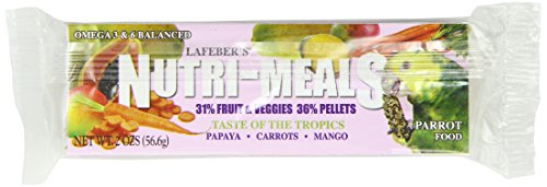 Nutri Meals (Lafeber Company Nutri Meals Taste of The Tropics Food for Parrots, 2-Ounce)