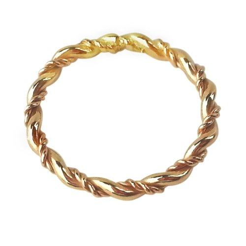 14k Gold Twist Toe Ring (5)