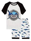 Family Feeling Big Boys Shark Pajamas Short Sets 100% Cotton Kid Summer Pjs 14