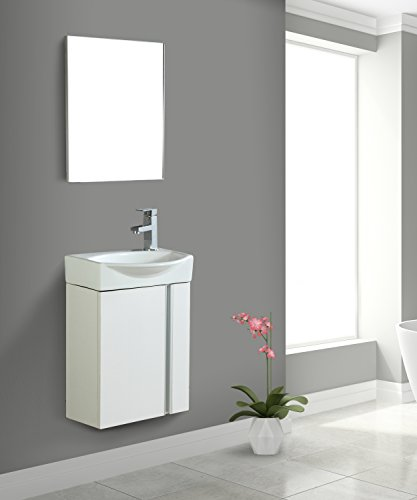 Fine Fixtures Compacto Small Bathroom Vanity Set With Sin...