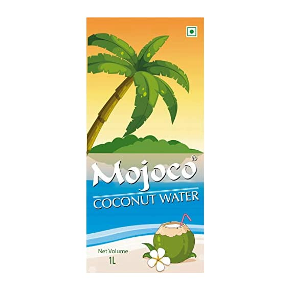 MOJOCO Delicious Natural Tender Coconut Water Energy Drink 1000ml (Pack of 6)