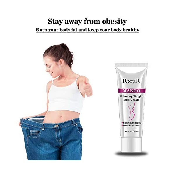 Slimming Cream for Tummy, Abdomen, Belly and Waist – Firming Cream – Hot Cream for Weight Loss – Anti Cellulite Cream And Stomach Fat Burner – Natural Ingredients (Mango) 41E0WiA7vkL