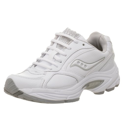 Saucony Women's Grid Omni Walker Walking Shoe,White/Silver,6.5 - White Shoes Saucony