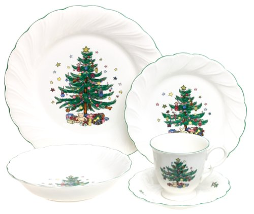 Nikko Ceramics Happy Holidays 5-Piece Dinnerware Set, Service for 1